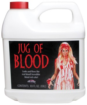 Fake Half Gallon Jug of Blood