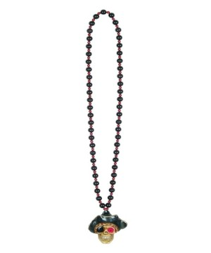 Flashing Pirate Skull Beads Necklace