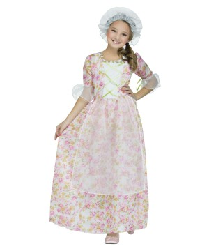 Girls Colonial Sweetheart Costume