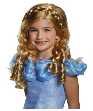 Girls Disney Cinderella Movie Wig