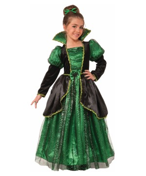 Girls Emerald Princess Witch Costume