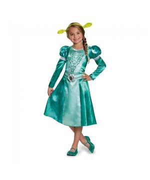 Dreamworks Princess Fiona Classic Girls Dress Costume  sc 1 st  Wonder Costumes : shrek costumes for adults  - Germanpascual.Com