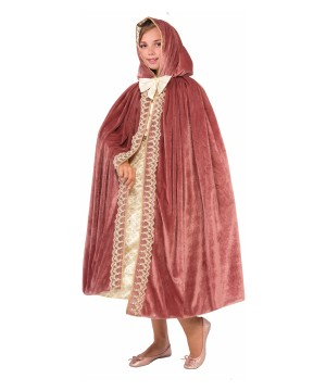 Girls Mauve Princess Escape Cape