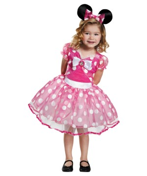 Pink Minnie Mouse Girls Tutu Dress