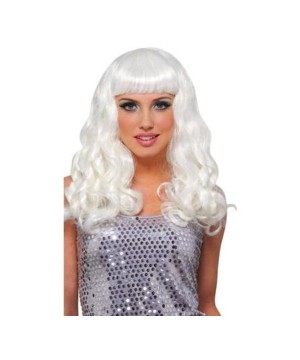 Girls Party White Wig