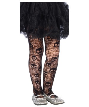 Girls Skull Web Pantyhose
