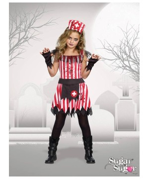 Girls Striper Nurse Costume