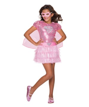 Girls Super Pink Costume