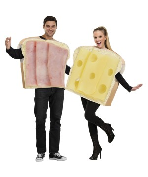 Ham Swiss Sandwich Couples Costume