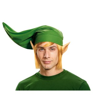 Link Mens Hylian Ears Wig and Hat Accessory Kit