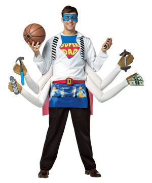 Mens Amazing Super Dad Costume