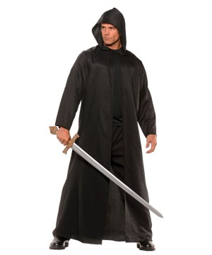 Mens Black Cloak Costume