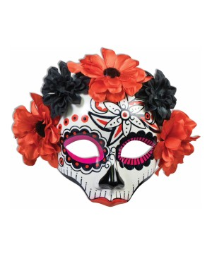 Mens Skull Flower Mask