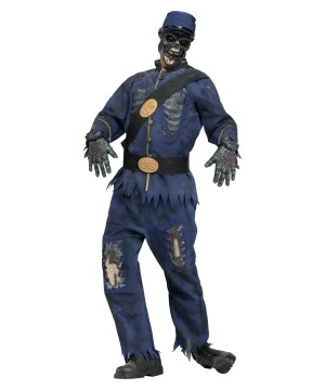 Mens Union Zombie Costume