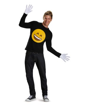 Emoticon Stick on Smiley Face Costume Kit