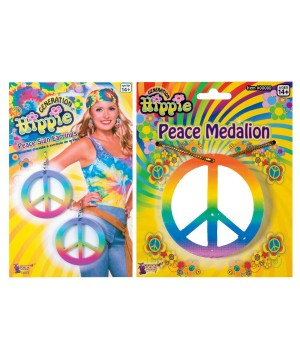 Peaceful Hippie Womens Costume Kit