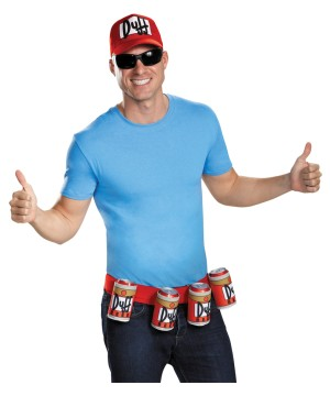 The Simpsons Duffman Costume Kit