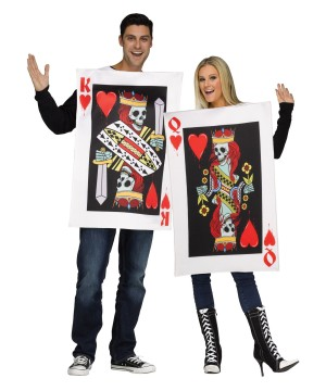 Skeleton Hearts Couples Costume