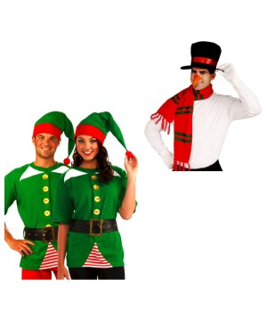 Snowman Jolly Elf Costume Sets
