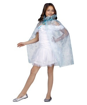 Sparkle Snowflake Princess Costume Cape