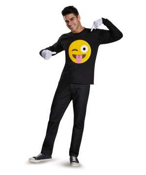 Tongue and Wink Emoticon Costume Kit