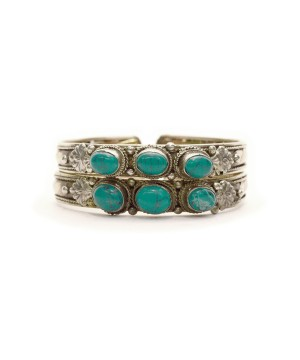 Turquoise Open Cuff Bangle Set