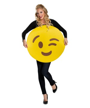 Wink and a Smile Emoticon Costume