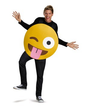 Winky Tongue Out Emoticon Costume