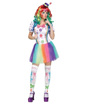 Womens Clown Hun Costume