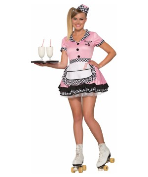 Womens Diner Waitress Costume