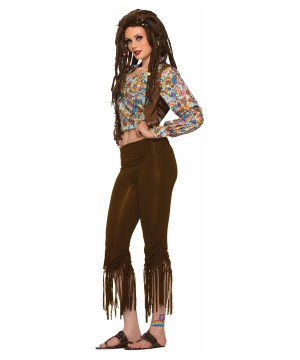 Womens Fringed Hippie Pants