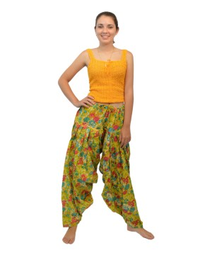 Womens Patiala Salwar Green Indian Pants