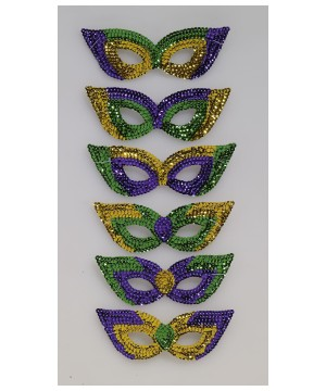 Mardi Gras Sequin Womens Eyemasks Set
