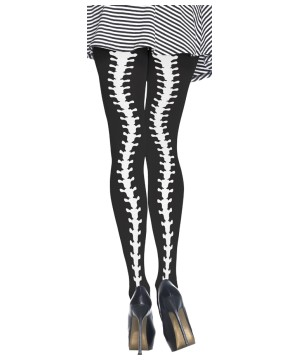 Womens Sexy Tights Spinal Column