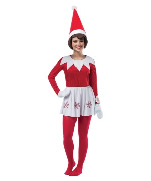 Womens Shelf Red Dress Costume