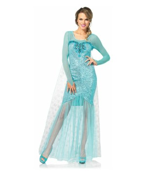 Womens Snow Frozen Costume