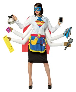 Womens Strong Super Mom Costume