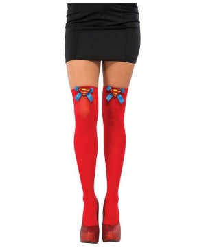 Womens Supergirl Thigh High Stockings