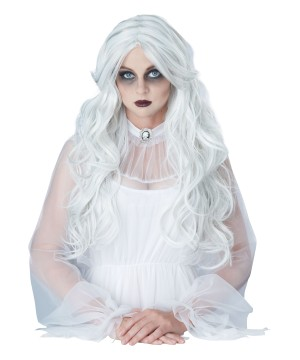 Womens Supernatural Ghost Gray Wig