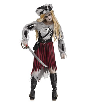 Womens Zombie Pirate Ghost Costume