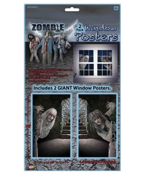 Zombie Window Clings Decoration