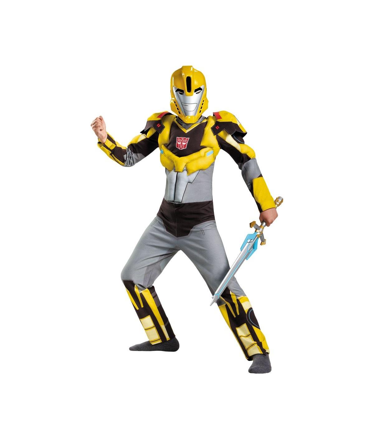 Transformers Bumblebee Muscle Boys Costume Superhero Costume