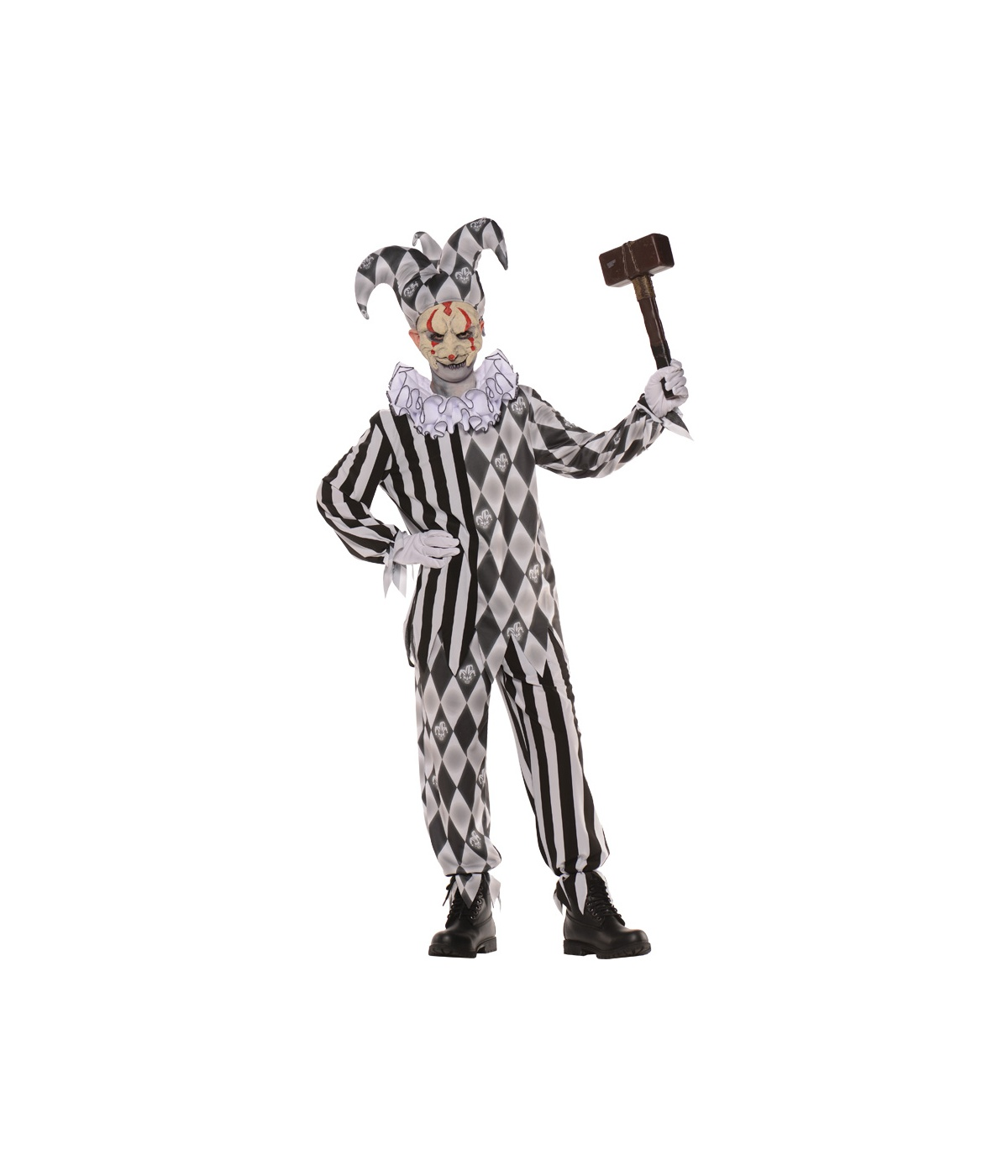 Boys Evil Harlequin Costume