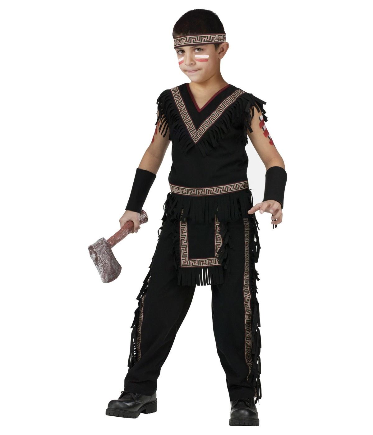 Indian Midnight Tribal Warrior Boys Costume