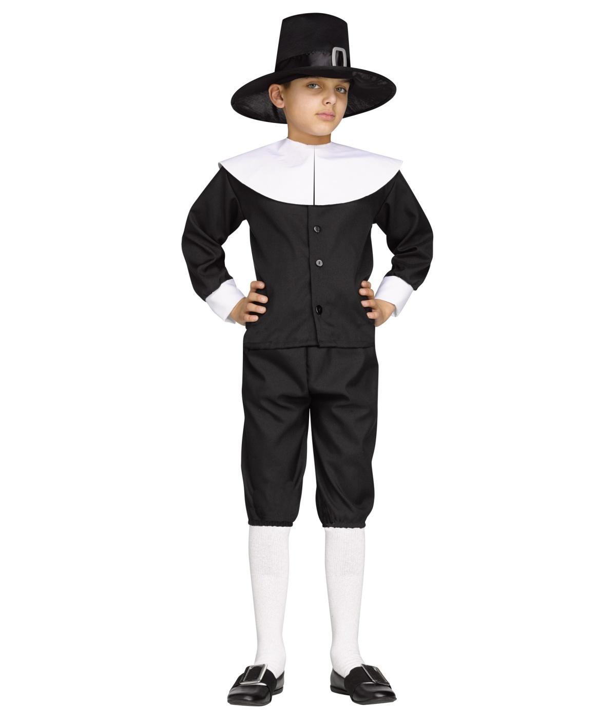 sc 1 st  Wonder Costumes & Thanksgiving Pilgrim Boys Costume - Historic Costumes