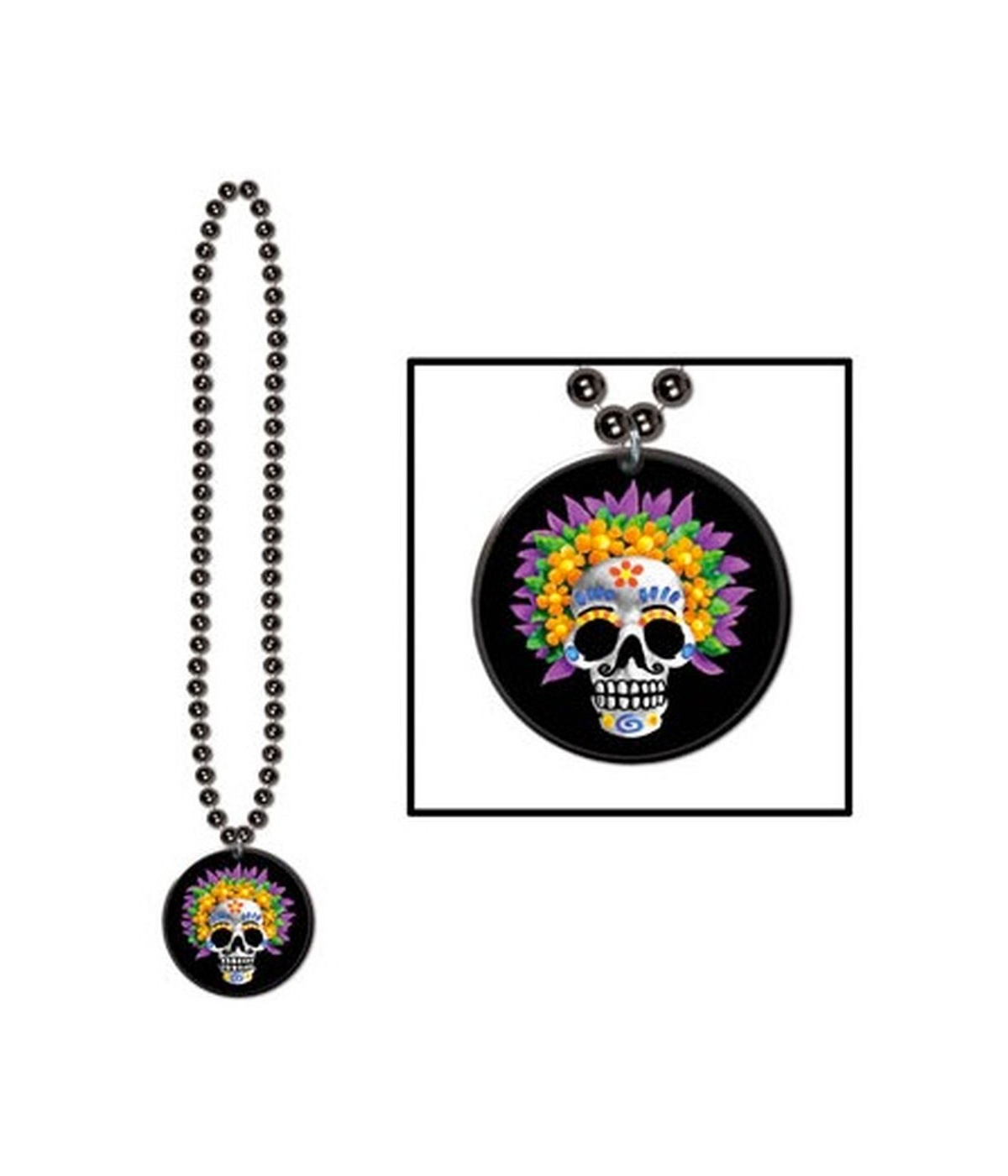 Day of the Dead Beads Medallion