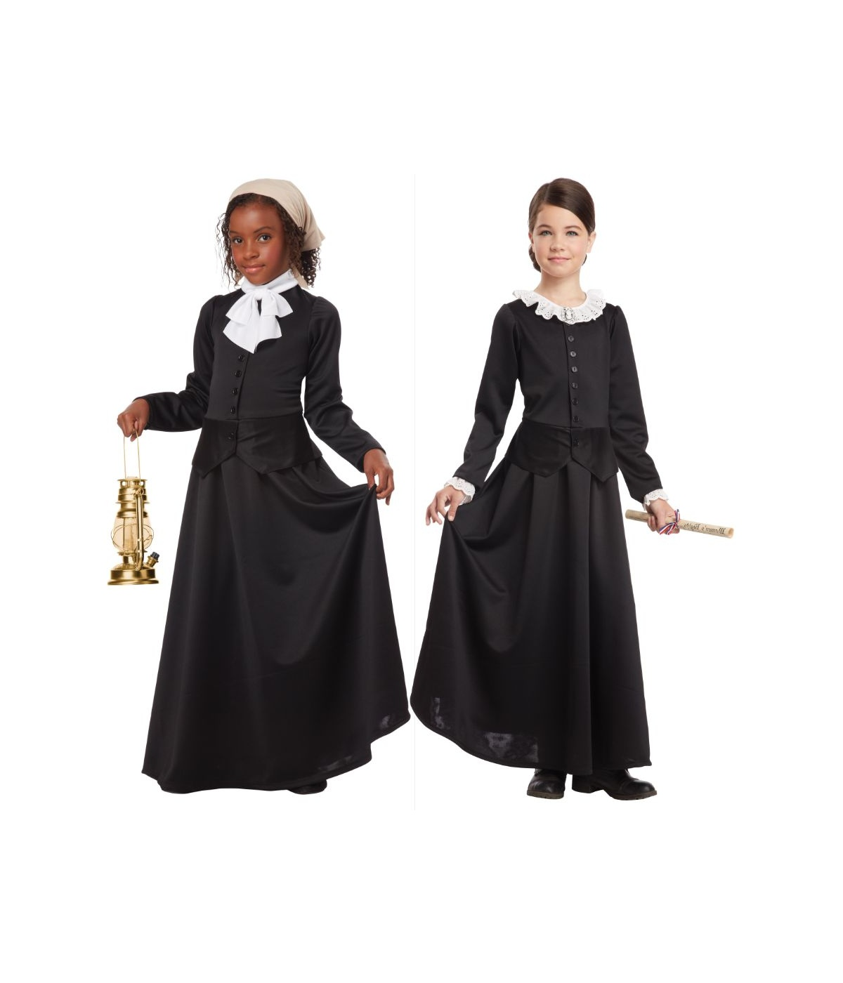 Girls Anthony Harriet Tubman Costume Combo