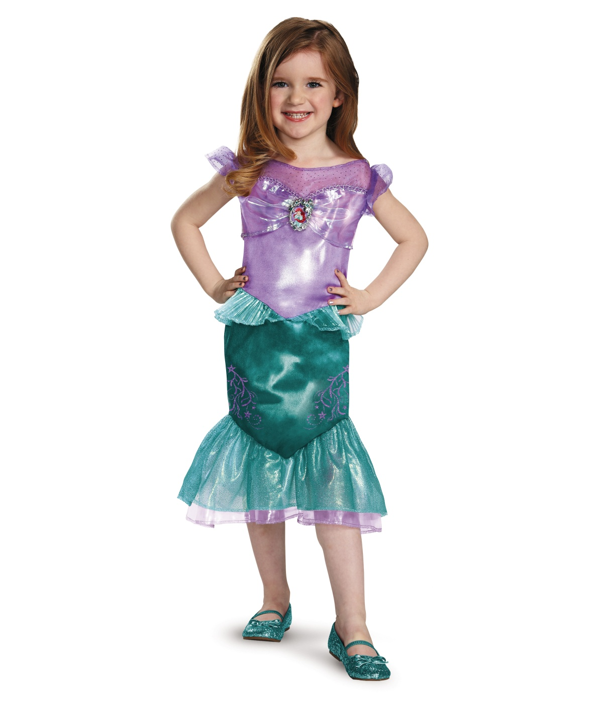 sc 1 st  Wonder Costumes & Classic Princess Ariel Girls Disney Dress Costume - Disney Costumes