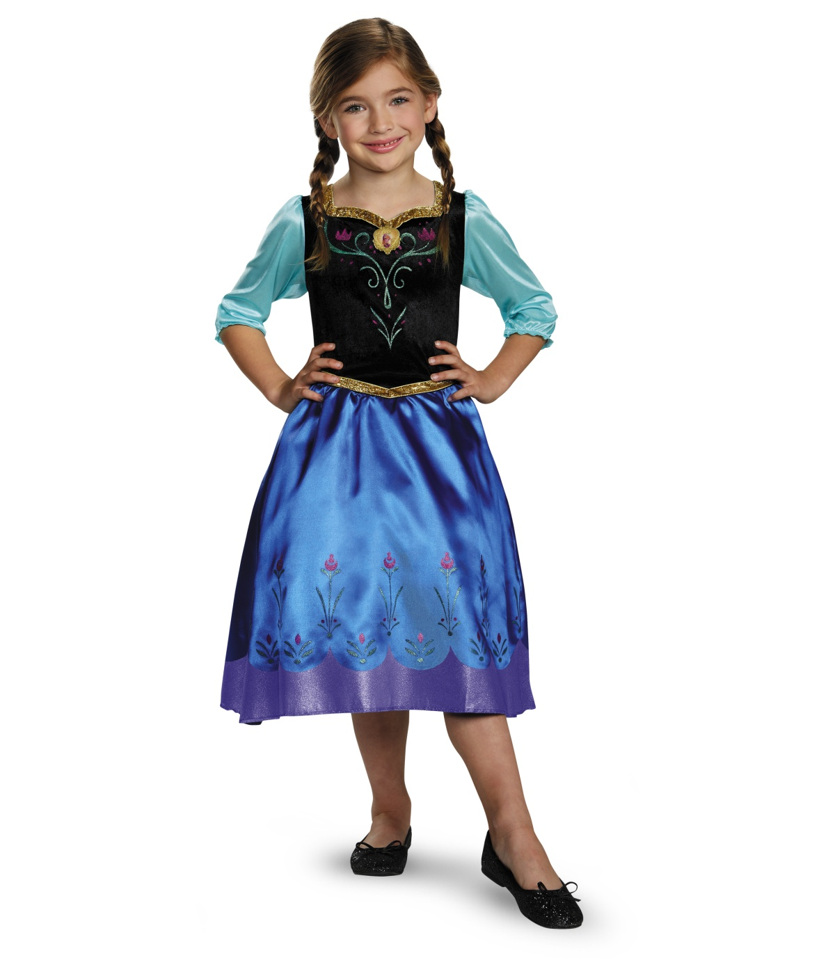 sc 1 st  Wonder Costumes & Frozen Anna Classic Girls / Toddler Disney Costume - Disney Costumes