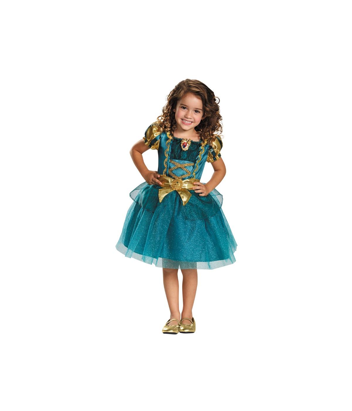 princess merida classic girls disney dress costume. Black Bedroom Furniture Sets. Home Design Ideas